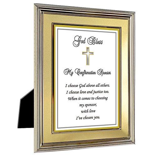Sponsor Confirmation Gift - Thank You Poem for Sponsor in Gold Metal Frame - Add Photo