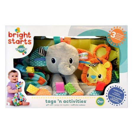 Bright Starts Tags 'n Activities Gift Set - An Amazing Collection of Comforting Toys That Baby Will Cherish.