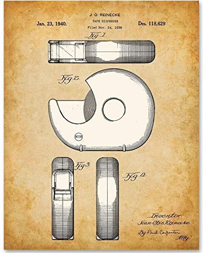 - Tape Dispenser - 11x14 Unframed Patent Print - Great Office Decor