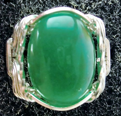 - Green Jade .925 Sterling Silver Mens Ladies Unisex Ring Size 5-13 Art Jewelry HGJ