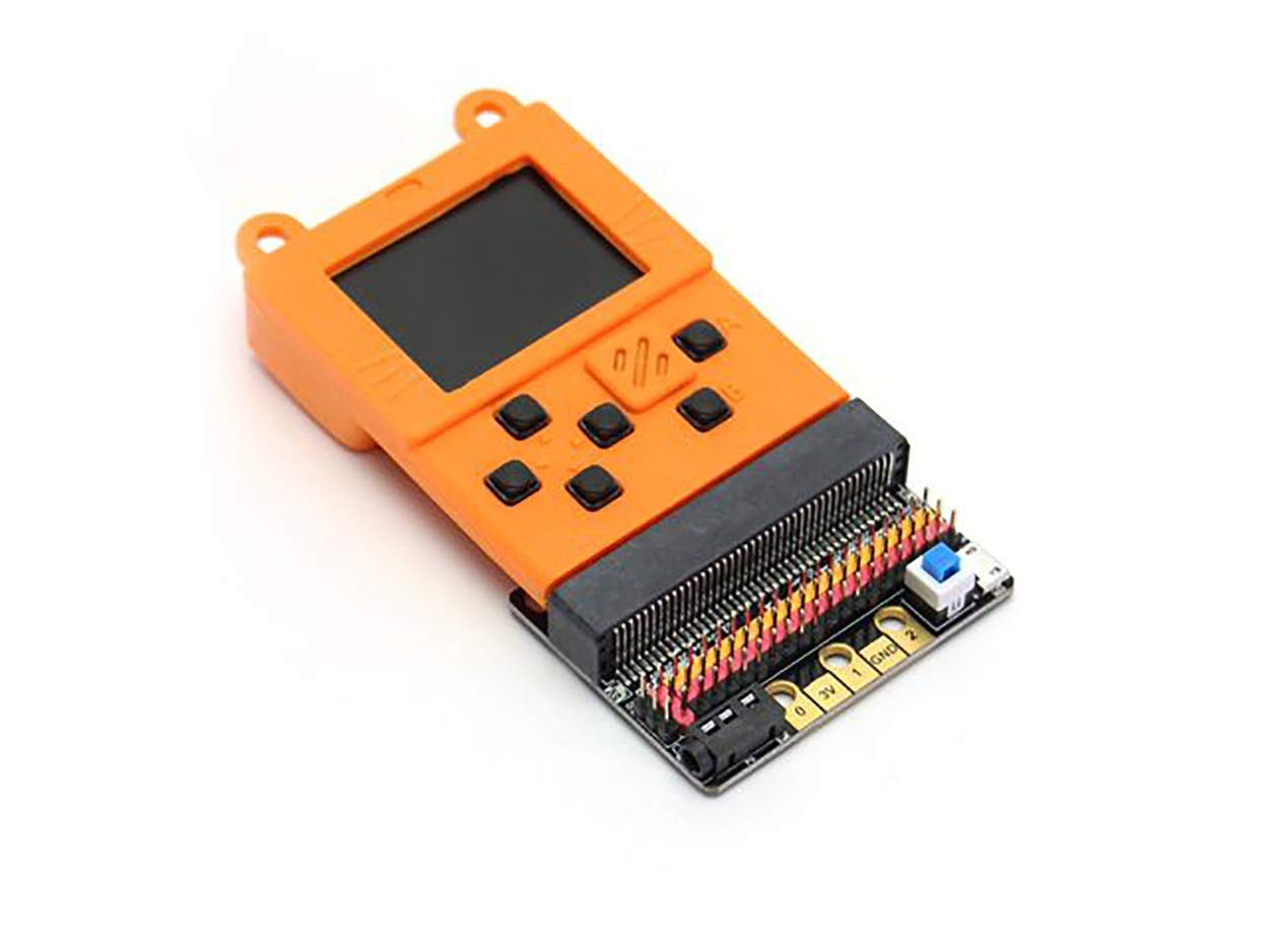 seeed studio Kittenbot Meowbit Card-Sized Retro Game Computer Codable Console for Microsoft Makecode Arcade and Python Video Game Console Compatible Micro:bit Expansion Board for Making Robot-Orange by seeed studio (Image #3)