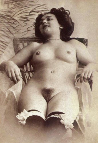 1900s woman's fashionable nude photograph stylish vintage 8x10 black & white - Women Nude Vintage Black