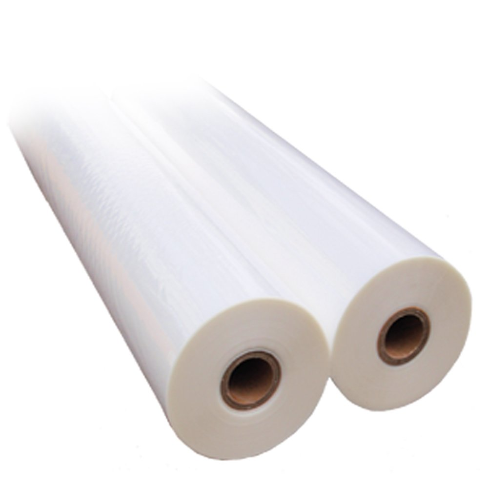 3.0 mil 27'' x 250' Clear School Laminating Film 2 Pack - 1'' Core w/ Laminator Webbing Card by Royal Sovereign