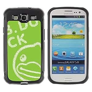 "Pulsar iFace Series Tpu silicona Carcasa Funda Case para Samsung Galaxy S3 III I9300 , Verde Dibujo Pizarra Tiza"""