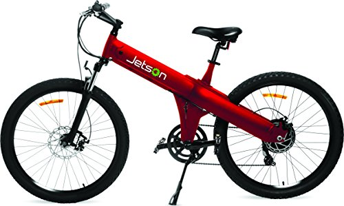 Jetson Electric Mountain Bike with 26-inch Wheels and Lithium Ion Battery (Red)