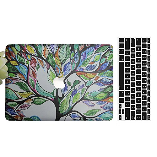 MacBook Air 12'' Case, AICOO 2-in-1 Beautiful Hard Case Cover With Keyboard Cover Skin Protector For MacBook Air 12 inch(A1534),...