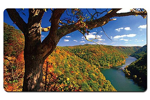 Hawks Nest State Park, West Virginia - Large Gaming Mouse Pad - Tabletop Mat - - Hawks Nest Park