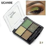Fashion 4 colors glitter eyeshadow naked palette natural brand cosmetic makeup smokey make up shining eye shadow with brush set