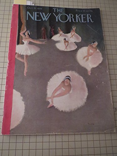 Oct.21,1939 The New Yorker: Ballet/Dance Cover - Christopher Isherwood - James Thurber - Letter From London - Samuel Hopkins Adams - Frank Sullivan -