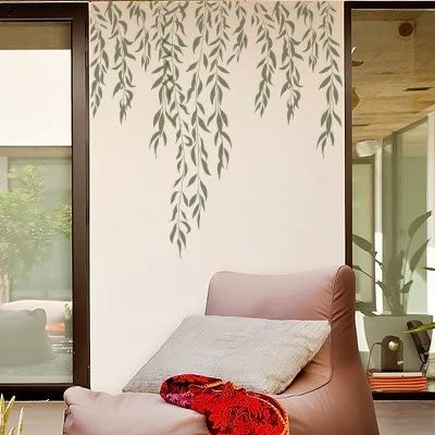 Stencil Muro Albero 006 Sauce Misure Dimensioni Esterne Dello Stencil 50 X 50 Cm Misure Design 48 X 48 Cm Amazon It Casa E Cucina
