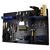 Cheap Wall Control Pegboard Standard Tool Storage Kit, Black/Blue