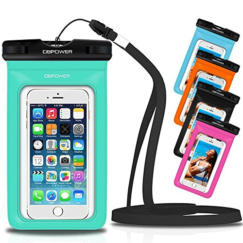 DBPOWER Universal Waterproof Phone Case Dry Bag for iPhone 4/5/6/6s/6plus/6splus, Samsung Galaxy s3/s4/s5/s6 etc....