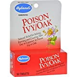 Hylands Homeopathic Poison Ivy Oak - Natural relief for itching, burning and crusting skin - 50 Tablets (Pack of 2)