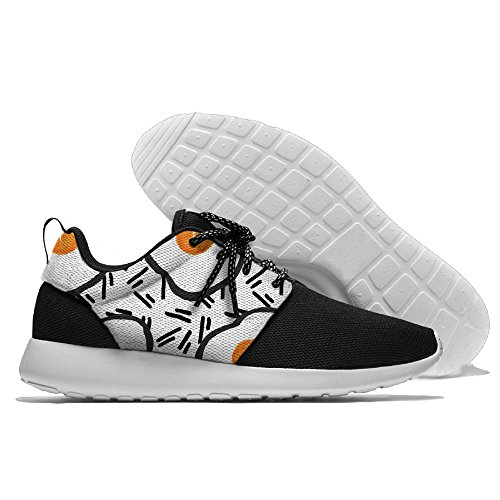 Poached Eggs Men's Mesh Running Sports Shoes Sneakers Athletic Workout Fitness Trainers 46