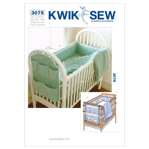 Bedskirt Pattern - Kwik Sew K3075 Crib Comforter Sewing Pattern, Bed Skirt