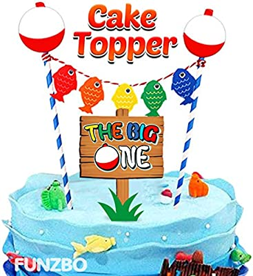 Surprising Funzbo Ofishally One First Birthday Cake Topper The Big One Personalised Birthday Cards Cominlily Jamesorg