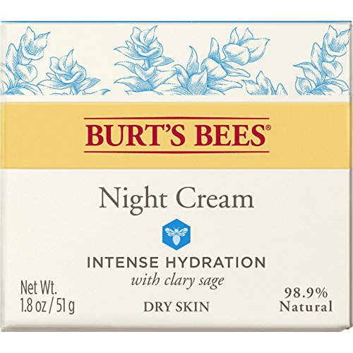 51J3mnj8izL - Burt's Bees Intense Hydration Night Cream, Moisturizing Night Lotion, 1.8 Ounces