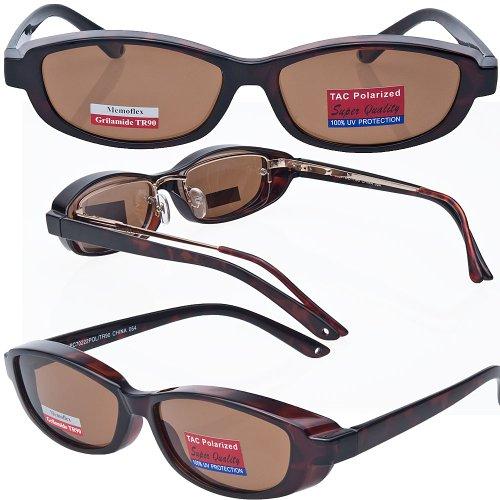 Slim Jane Mini Over-Prescription Sunglasses Copper Bronze Polarized - Glasses Rugged Prescription
