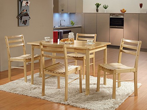 Kings Brand Furniture 5 Piece Dining Room Kitchen Dinette Set, Table & 4 Chairs