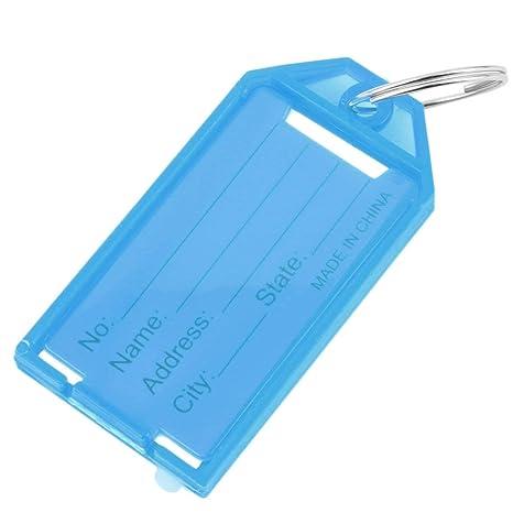 Amazon.com: 4 etiquetas de plástico para llaves ...
