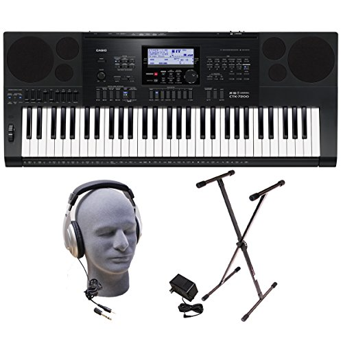 Casio CTK-7200 PPK 61-Key Premium Keyboard Pack with Headpho