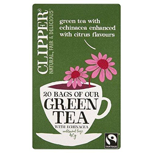 Clipper Green Tea with Citrus & Echinacea - 20 per pack