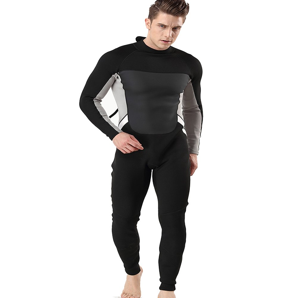 Large Wetsuit Men Men's Wetsuit 2MM Neoprene Cold Warm Long Diving Suit Wetsuit Swimsuit Suitable For Deep-sea Adventure Sports (Size   M)