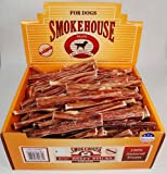 Smokehouse Steer Pizzles 6.5IN 100ct Beef Sticks