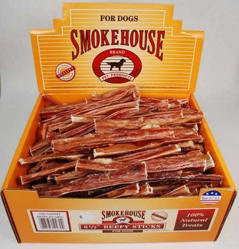Smokehouse Steer Pizzles 6.5IN 100ct Beef Sticks by SmokeHouse