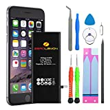 ZeroLemon 1810mAh Battery for iPhone 6 Replacement with Complete Repair Tools Kit and Instruction [Not for iPhone 6 Plus, 6S/6S Plus] Speed up iPhone
