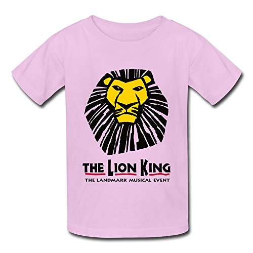 Photo JeFF Kid`s Boys` And Girls` The Lion King The Landmark Musical Event O-neck Cotton Tee For 6-16 Years Small Pink (US Size)
