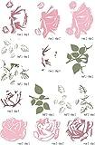 Elizabeth Craft ModaScrap Clear Stamps-Sweet Vintage Rose