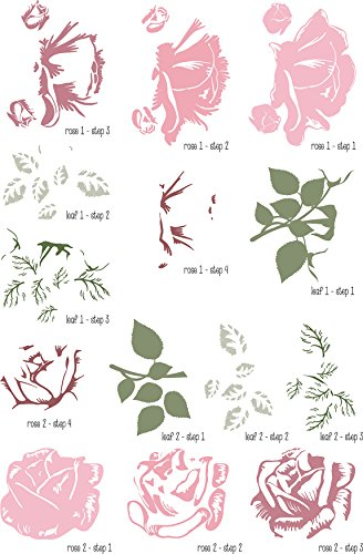 Design Clear Stamp - Elizabeth Craft ModaScrap Clear Stamps-Sweet Vintage Rose