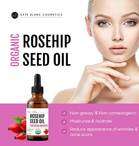 Rosehip-Seed-Oil-by-Kate-Blanc-USDA-Certified-Organic-100-Pure-Cold-Pressed-Unrefined-Reduce-Acne-Scars-Essential-Oil-for-Face-Nails-Hair-Skin-Therapeutic-AAA-Grade-1-Year-Guarantee-1oz