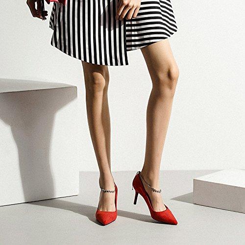 De del Trabajo Club De De Red La Mujer Nocturno Zapatos Partido Boda De Alto De Corte La Zapatos Zapatos Boda La Moda La Mujer 7cm Rojos UK De De Tacón 3 35 De Rhinestone EU ZaSxwqOp