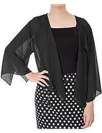 Women Cardigans 3/4 Sleeve Sheer Shrug Cropped Bolero Cardigan KK913