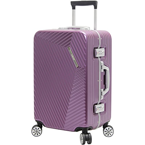 Andiamo Elegante Aluminum Frame 20' Carry On Zipperless Luggage With Spinner Wheels (20in, Quartz)