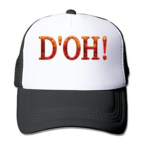 Cool D'oh! Adult Mesh Trucker Hat Baseball Cap One Size Black ()