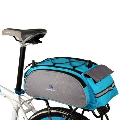 ROSWHEEL Cycling Bicycle Bike Rack Bag BLUE Seat Cargo Bag Rear Pack Trunk Pannier Handbag Back Frame Pannier Backseat Bag Outdoor by Petforu