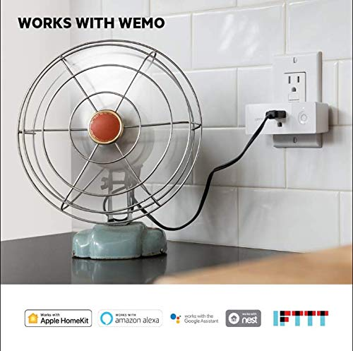 Wemo Mini Smart Plug, Wi-Fi Enabled, Compatible with Alexa (F7C063-RM2) (4 pack) (Renewed) by WeMo (Image #3)