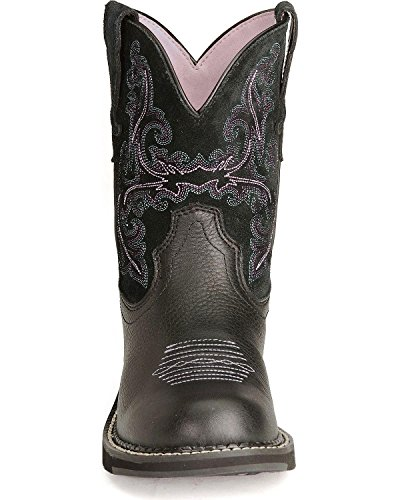 Ariat Kvinners Fett Deercowgirl Boot - 10004729 Svart