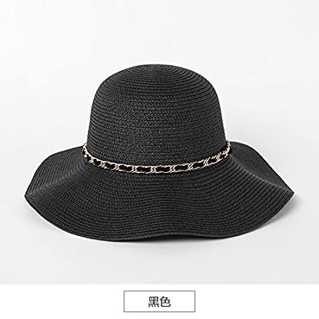 ZHANGYONG Straw hat girl English retro Stetson hat Children Summer foldable  visor beach cap seaside sun hats  97aba0b4f73
