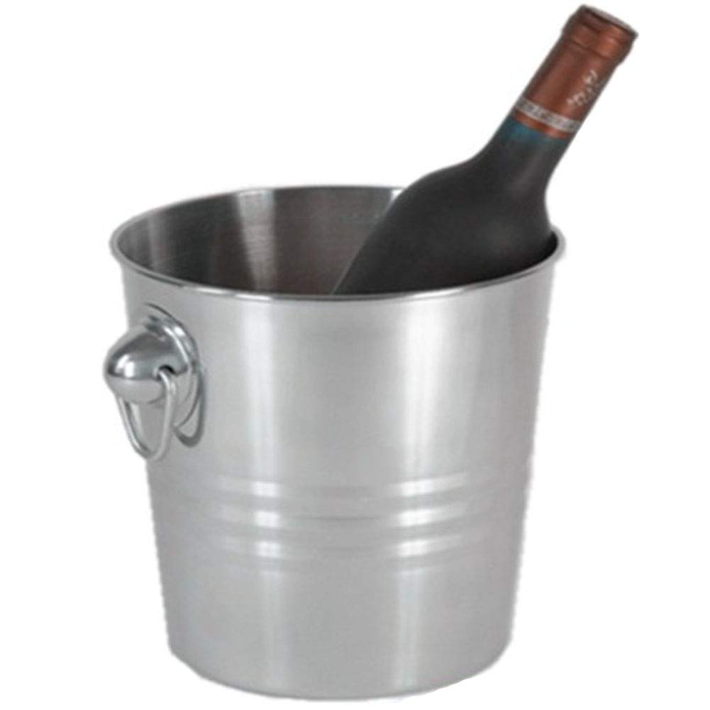 RANRANHOME Stainless Steel Champagne ice Bucket Hotel ktv bar Beer Barrel 18.614.520 cm.