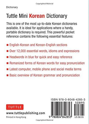 Tuttle Mini Korean Dictionary: Korean-English English-Korean ...