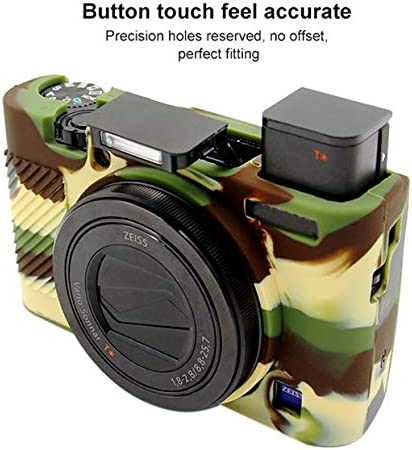 Color : Yellow Camouflage YANTAIANJANE Camera Accessories Soft Silicone Protective Case for Sony RX100 III//IV//V