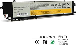 LQM 7.4V 48Wh New L13M4P01 Laptop Battery for Lenovo Erazer Y40-70AT-IFI L13L4P01 L13C4P01
