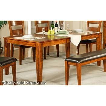 Amazon.com - Steve Silver Company Mango Dining Table with 18 ...