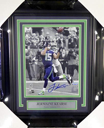 Signed Kearse Photograph - Framed 8x10 NFC Championship MCS Holo Stock #107802 - Autographed NFL Photos (Kearse Photograph)