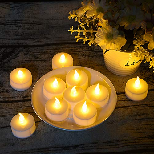 125 Pack LED Flameless Tea Light Candles, Battery Tea Light Candles, Warm White Realistic Flickering Bulb Light for Weeding, Votive, Patry, Home by Angium (Image #4)
