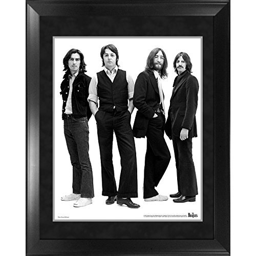 The Beatles Through the Years : 1969á Group Pose White Background Framed 16x20 Photo by Steiner Sports